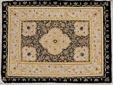 Kashmir Zardozi Jewel Carpet Rug Handmade Traditional Decorative Wall Hanging