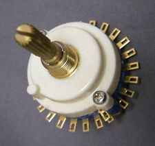 Multi position single pole 23 way switch gold contacts