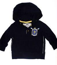 EX NEXT BOYS KIDS  HOODED JACKET IN DARK BLUE with LOGO - SIZES: 3MTH - 6 YRS