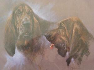 Bloodhound Print - Mick Cawston - Ltd.Edn. 231/850