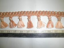 "9 yards TASSEL FRINGE 2 3/4"" SALMON/PEACH Fabric Trim  imp8962"