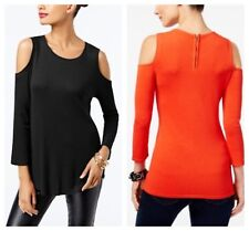INC  SEXY   COLD SHOULDER  SWEATER  PULLOVER  TOP  BLACK  Sz PL  NWT