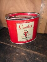 Cavalier King Size 100 Cigarette Tobacco Tin Can - R.J. Reynolds District Of NC