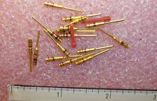 QTY (54) M39029/4-20-20 AMPHENOL GOLD PIN CONTACTS