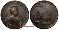 FRANCE Lorraine Copper 1729 Medal Elisabeth Charlotte of Orleans 64,15 g.56mm