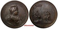 FRANCE Lorraine Copper 1729 Medal Elisabeth Charlotte of Orleans 64,15 g.56mm