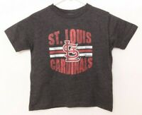 NEW St. Louis Cardinals Soft As a Grape Dark Gray Short Sleeve T-Shirt Toddler 3