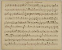 MARSCH Potpourri NOTEN Handschrift Original Notenblatt um 1850 Tanz Musik