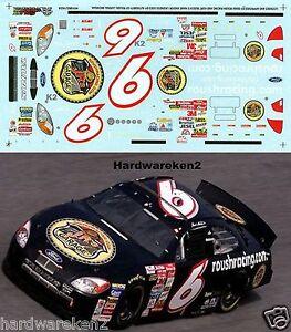 NASCAR DECAL # 6 JR's GARAGE  ROUSHRACING.COM 2001 BUD SHOOT-OUT  MARK MARTIN