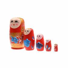 Russian Nesting Babushka Matryoshka Hand Paint Wooden Dolls Set 5 Piece
