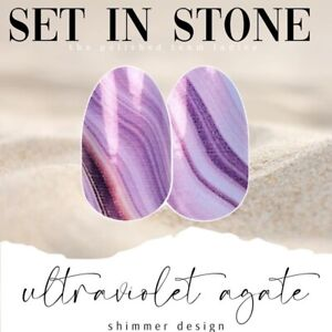COLOR STREET Nails *Set In Stone* Ultraviolet Agate Limited Edition Free Ship