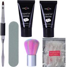 6Pcs Set Poly Quick Extension UV LED Gel Varnish Nail Brush Tips Dual-ended Tool