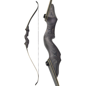 "60"" Takedown Recurve Bow Wooden Archery Shooting Hunt 25-65lbs Bamboo Core Limbs"