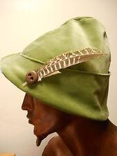Por encargo de terciopelo verde Minstrel Sombrero Con Plumas-Fairy/Cosplay/Teatro