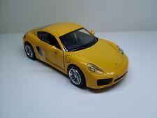 Porsche Cayman (981) jaune, NewRay terminé modèle stand modèle 1:32