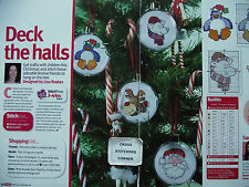 ADORABLE FESTIVE FRIENDS FUN BAUBLES FOR THE CHRISTMASS TREE CROSS STITCH CHART