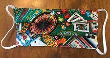 Face Mask 100% Cotton Casino Playing cards Gambling Blackjack Poker Roulette