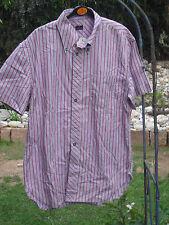 Paul Smith Hemd Gr L hellila mit roten Streifen