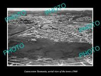 OLD LARGE HISTORIC PHOTO OF LAUNCESTON TASMANIA AERIAL VIEW OF THE TOWN c1960 1