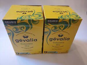 24 Gevalia Colombia 100% Arabica Medium Roast Coffee Keurig 2 - 12 Packs 5/22exp