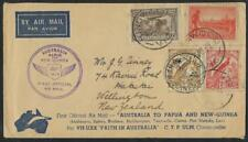AUSTRALIA TO PAPUA NEW GUINEA 1934 FIRST OFFICIAL AIR MAIL FLIGHT RINGWOOD TO LA