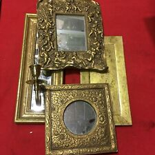 Lot of 4 - Assorted Wall Mount Home Decor: Mirrors and Candlestick