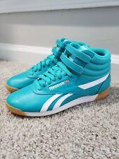 REEBOK Frestyle Hi Shoes - Teal White - Womens 7.5 - CN7149