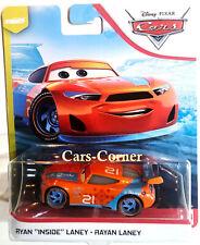 """Disney Pixar Cars 3 Evolution Ryan """"Inside"""" Laney vom Team Blinkr Mattel 2019"""