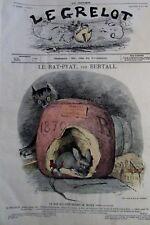 CARICATURE LE RAT PYAT JOURNAL SATIRIQUE LE GRELOT N° 7 de 1871