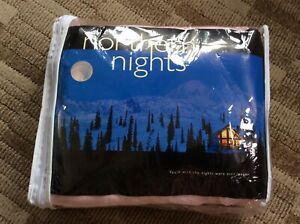 Northern Nights Flannel Sheet Set 3 piece - Pink - New in bag - Double