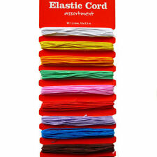 Elastic Cord Assortment - 10 Colours - 35m - 1.2mm Thickness - Jewellery Beading