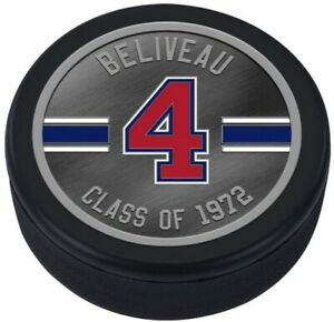 Jean Beliveau Montreal Canadiens HHOF 3D Textured Silver Plated Medallion Puck