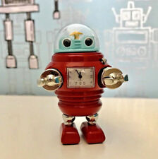 RETRO Miniature Clock Robot Funky Unique Home Decor Office Desk Christmas Gift