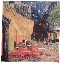 "NEW VAN GOGH CAFÉ TERRACE AT NIGHT 42CM 17"" BELGIAN TAPESTRY CUSHION COVER C107"