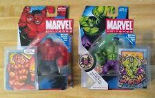 New listing Hulk 2 Original Sketch Cards + 2 Action Figures Gift Set! Red Hulk & Green Hulk!