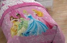 Disney Princess Quilt Comforter Set Cinderella Tiana Queen Size Bedding Girls