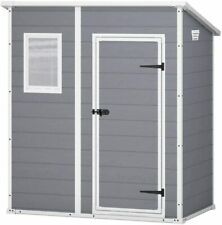 Keter Pent Garden Waterproof Plastic Shed Comes With Base - 10 Year Warranty 6x4