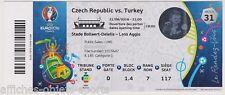 Collection Ticket Football N31 Turquie - Rép Tchèque 21/06/2016 @ Lens