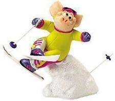 Piggin Collectors Figurine - on The Piste # 14185 Skiing Pig