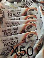 50 Single Serve International Roast Coffee Individual Sachets 1.7g each Stick
