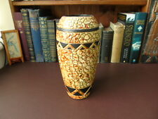 1930's Art Deco Vase (Embosa Ware ?) -  Mosaic Tile Pattern