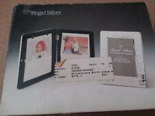 Regal Silver Baby Photo Frame Album Silver Plated on Solid Brass 5x7 Nib