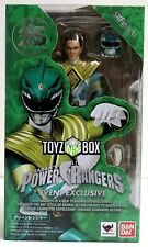 """In STOCK S.H. Figuarts SDCC 2018 MMPR Power Rangers """"Green Ranger"""" Action Figure"""