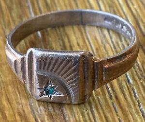 vintage mens signet ring