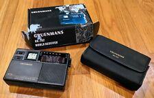 Gruenmans RK-702 7 Band FM/MW/SW 1-5 World Time HWS Alarm Travel Radio W/ Case