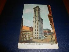 Old colour RP postcard, Times Building, New York, posted to Monmouth, B'ham mark