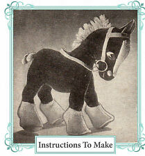 Vintage Visage 1940s wartime Carthorse toy sewing pattern-full size paper pieces