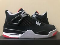 Air Jordan Retro 4 GS Bred Black Red 408452-060 Size 5Y LIMITED 100% Authentic