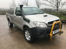 2010 Toyota Hilux single cab pick-up with snow plough