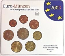Germany 2003 Euro Official Coin Set Special Edition Stuttgart Mint F Deutschland
